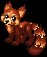 Fire red panda single