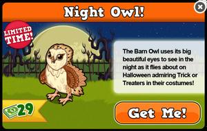 Barn owl modal
