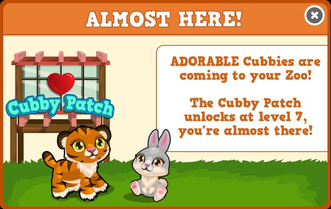 Cubby patch unlock modal