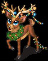 Ornament reindeer single
