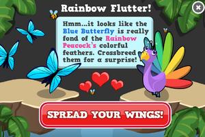 Rainbow butterfly modal