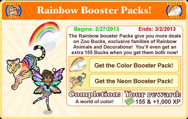 Rainbow glow tiger goal modal