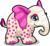 Cubby elephant polka dot single