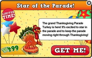 Thanksgiving turkey modal