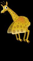 Butterfly wing giraffe an