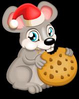Christmas cookie rat single