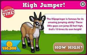 Klipspringer modal