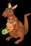 Birthday kangaroo static