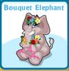 Bouquet elephant card