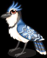 Snowflake blue jay single
