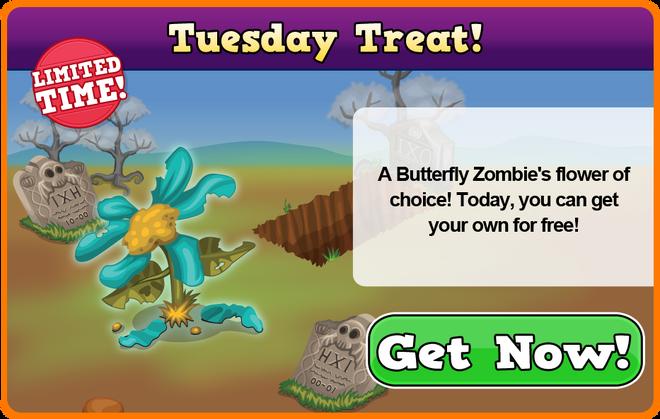 Zombie tuesday treat modal