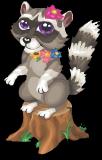 Fairy glen raccoon static