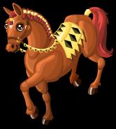German knight horse single