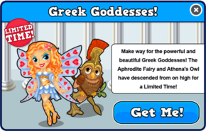 Greek goddesses modal