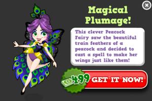 Peacock fairy modal
