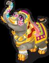 Royal indian elephant single