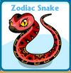 Zodiac snake card