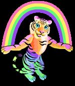 Rainbow glow tiger an