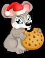Christmas cookie rat static