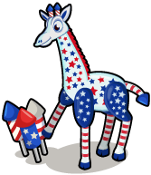 Fireworks giraffe single