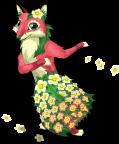 Floral fox an