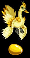 Golden bucks swan an