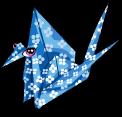 Origami crane static