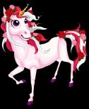 Rose unicorn static