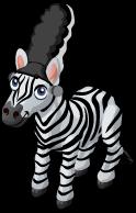 Zebra as Frankenbride single