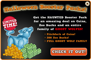 Booster pack ghost wolf modal