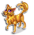 Goal golden wolf icon