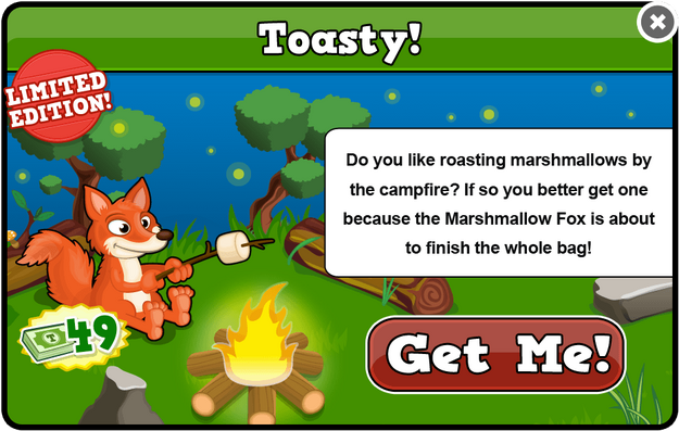 Marshmallow fox modal