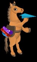Steppe pony an