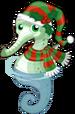 Christmas seahorse single