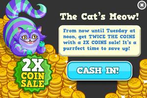 Cats coin sale modal