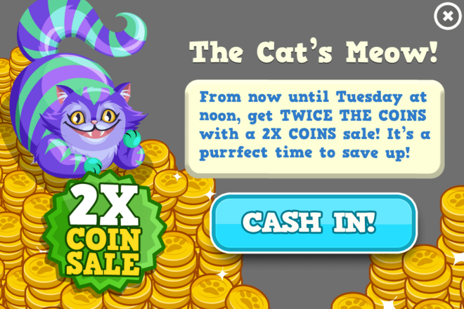 Cats coin sale modal