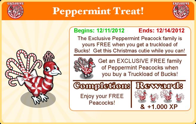 Peppermint peacock goal modal