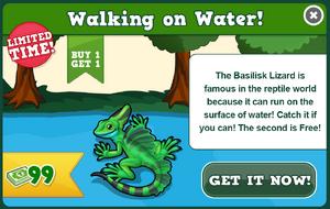Basilisk lizard modal