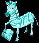 Blue zircon zebra static