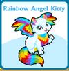 Rainbow angel kitty card