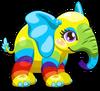 Cubby elephant rainbow single