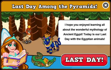 Egypt last day modal