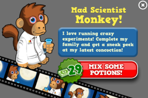 Scientist monkey animators modal