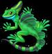 Basilisk lizard single