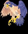 Peregrine falcon static