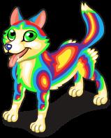 Rainbow husky single