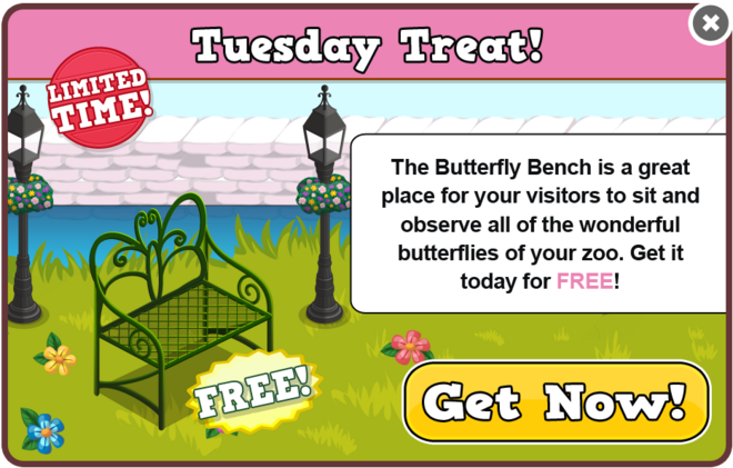 Butterflies tuesday treat modal
