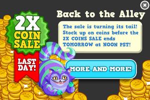Cats coin sale last modal