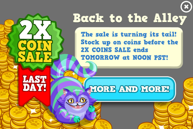 Cats coin sale last modal