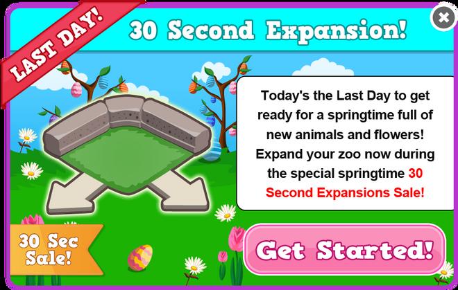 Easter 2013 expansion sale last modal